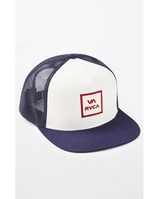 42702d21642 RVCA - Blue Va All The Way Trucker Iii Hat for Men - Lyst ...