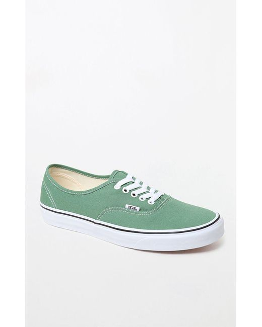 9877f6e8faa Lyst - Vans Color Theory Green Authentic Shoes in Green for Men
