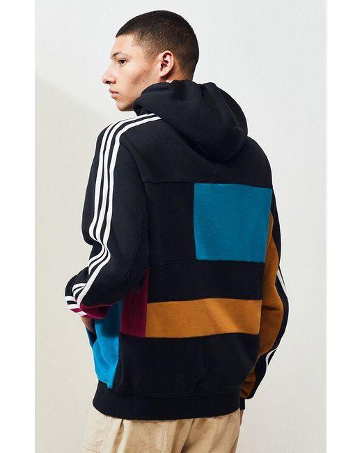 Mens adidas Asymmetrical Color Block Hoodie