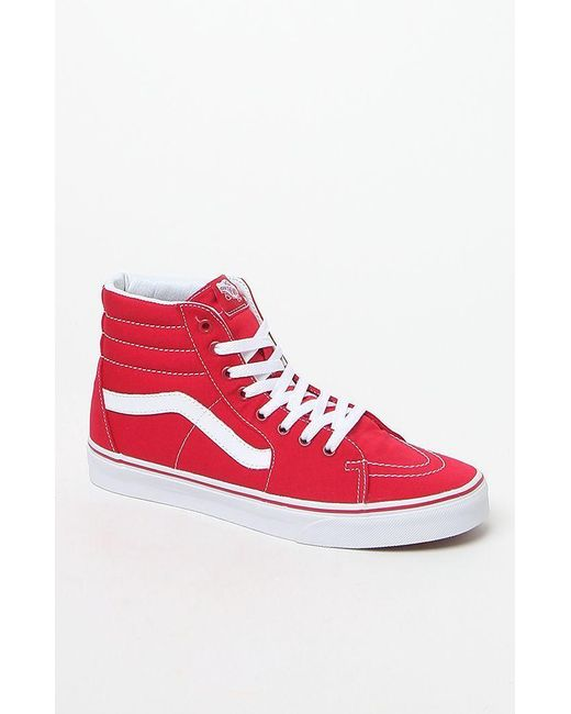 c22aa6861411 Lyst - Vans Canvas Sk8-hi Red Shoes in Red for Men