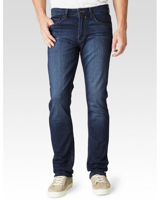 """PAIGE   Blue Hidden Hills Mckinley 14"""" Cottonwood Creek Straight Jeans   Lyst"""