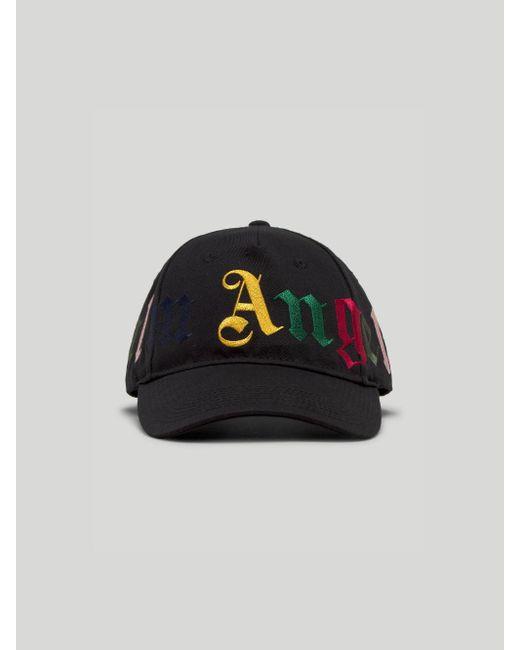 メンズ Palm Angels ロゴ キャップ Black