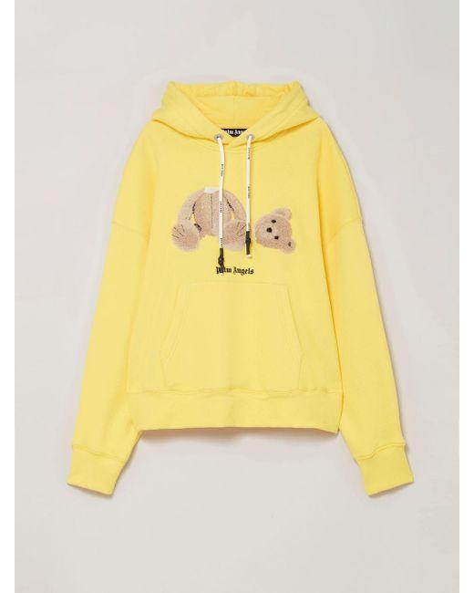 メンズ Palm Angels Bear ロゴ パーカー Yellow
