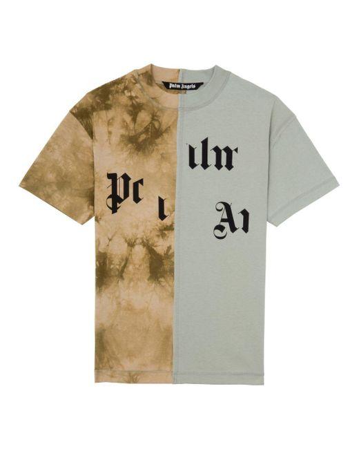 メンズ Palm Angels Broken Logo パネル Tシャツ Multicolor