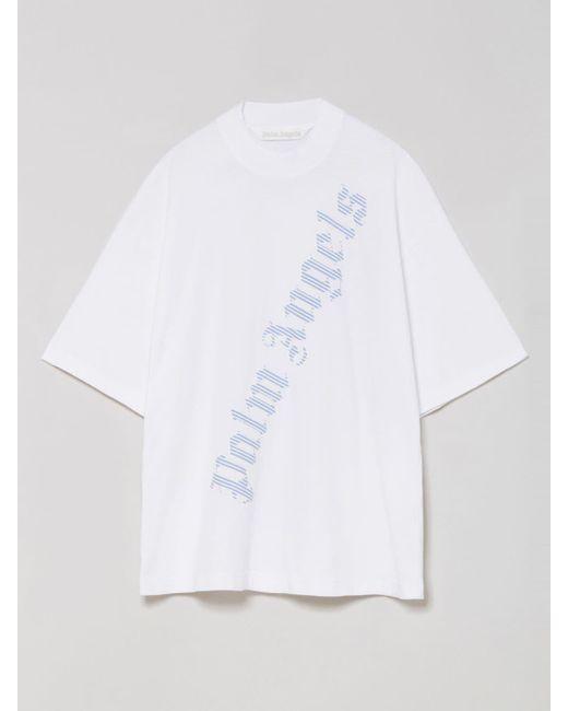Palm Angels オーバーサイズ ロゴ Tシャツ White