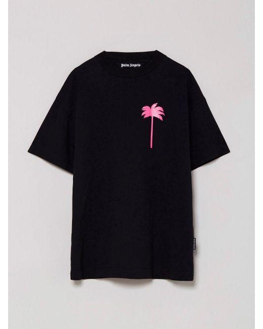 メンズ Palm Angels Pxp プリント Tシャツ Black