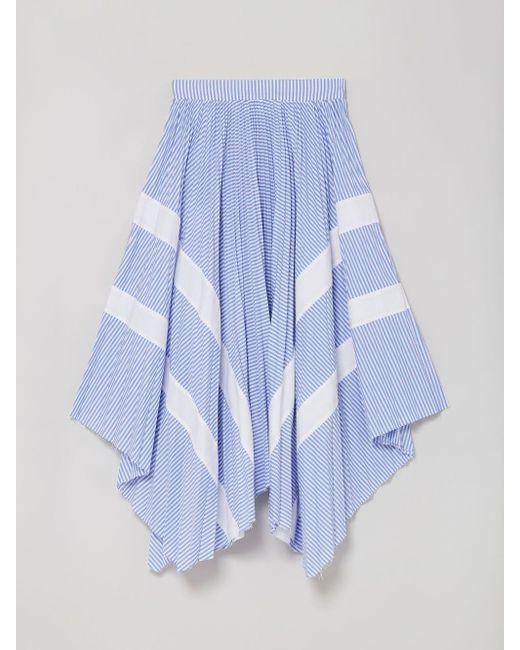 Palm Angels ストライプ スカート Blue