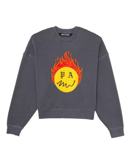 メンズ Palm Angels Burning Head スウェットシャツ Gray