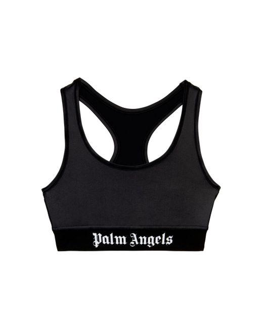 Palm Angels ロゴ スポーツブラ Black