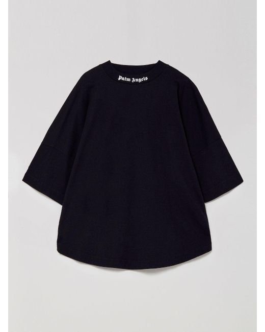 Palm Angels ロゴ オーバーサイズ Tシャツ Black