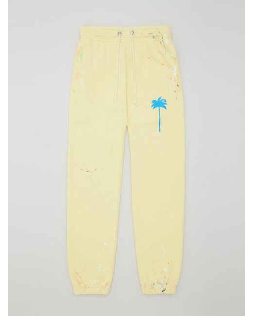 Palm Angels プリント トラックパンツ Yellow