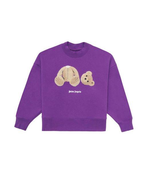 Palm Angels プリント スウェットシャツ Purple