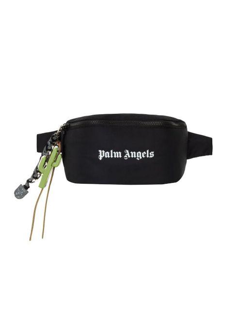 メンズ Palm Angels ロゴ ベルトバッグ Black