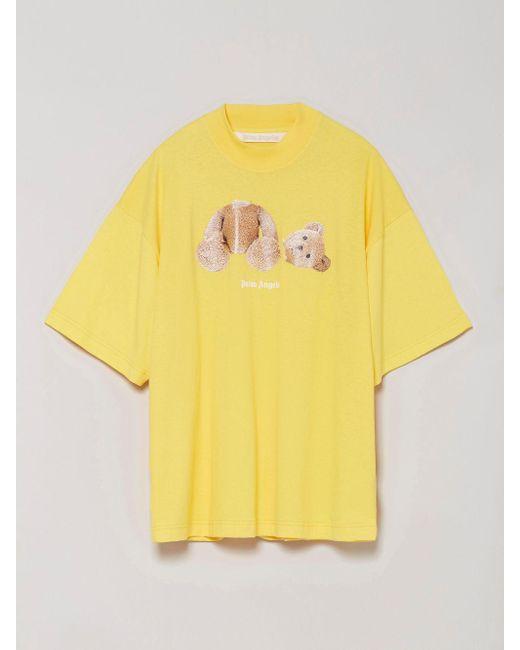 Palm Angels Bear プリント Tシャツ Yellow
