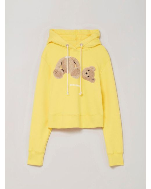 Palm Angels Bear プリント パーカー Yellow