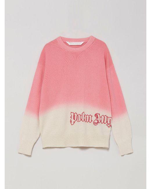 Palm Angels ロゴ タイダイ プルオーバー Pink