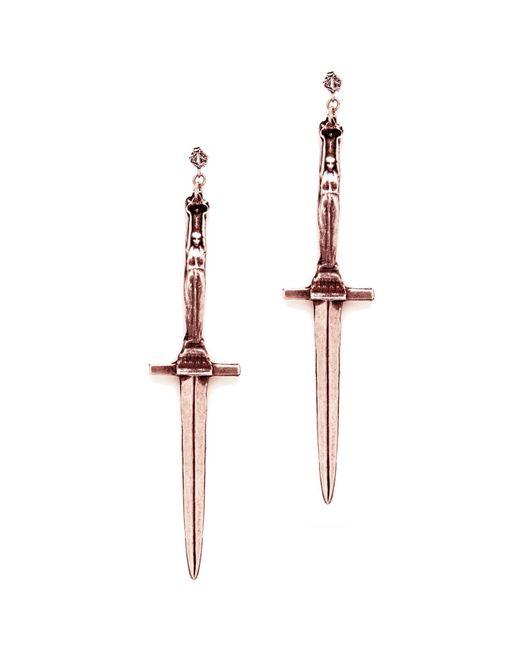Pamela Love   Purple Dagger Earrings   Lyst