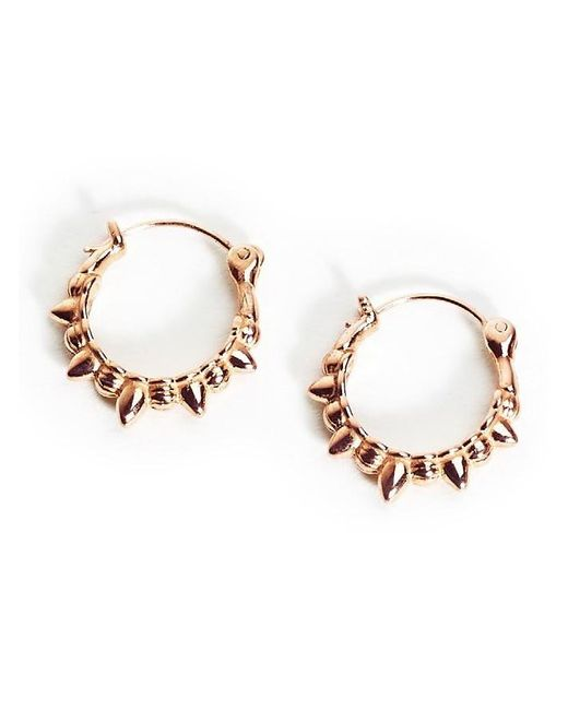 Pamela Love | Pink Spike Hoop Earrings | Lyst