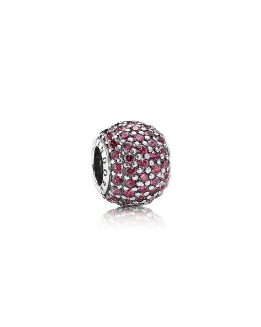 Pandora | Red Pavé Ball Charm | Lyst