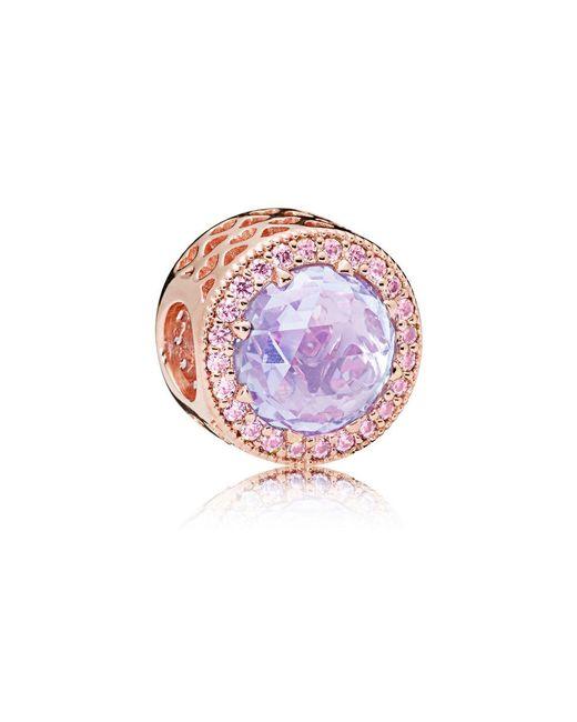 Pandora - Multicolor Lavender Radiant Hearts Charm - Lyst