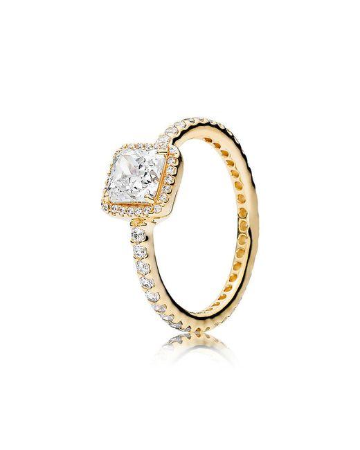 Pandora - Metallic Timeless Elegance Ring - Lyst