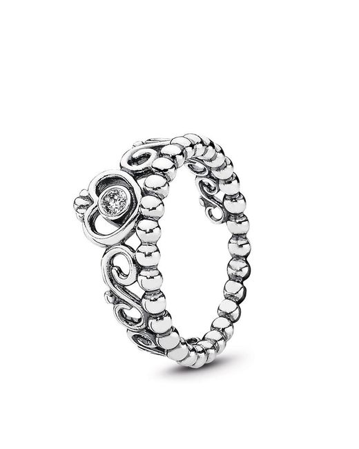 Pandora - Metallic My Princess Stackable Ring - Lyst