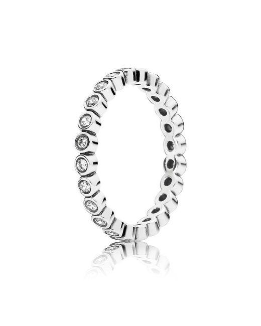 Pandora - Metallic Alluring Delicate Brilliant Ring - Lyst