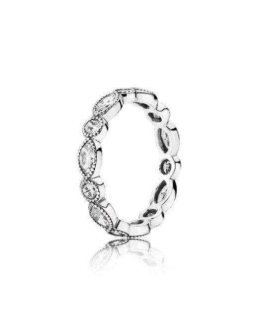 Pandora - Metallic Alluring Brilliant Marquise Ring - Lyst