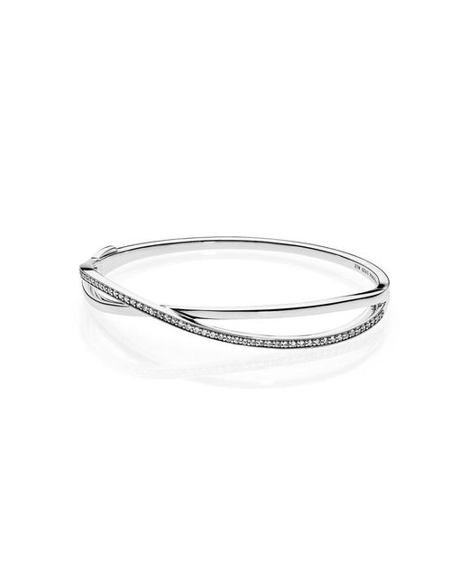 Pandora | Metallic Entwined Bangle | Lyst