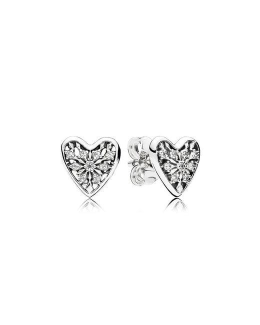 Pandora | Multicolor Hearts Of Winter Stud Earrings | Lyst