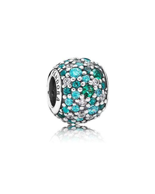 Pandora - Blue Ocean Mosaic Pavé Ball Charm - Lyst