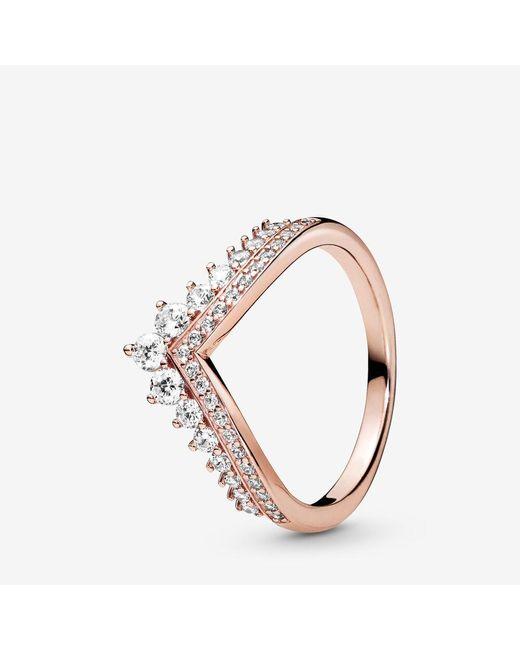 Pandora Multicolor Princess Wishbone Ring