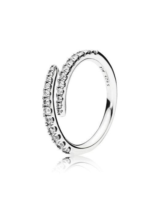 Pandora - Metallic Shooting Star Ring - Lyst