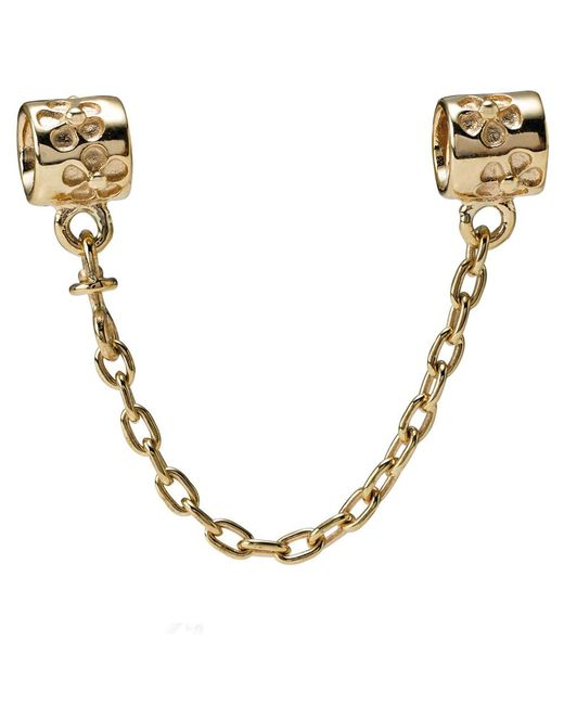 Pandora - Metallic Floral Safety Chain - Lyst