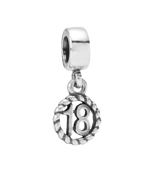 Pandora - Metallic 18th Birthday Pendant Charm - Lyst
