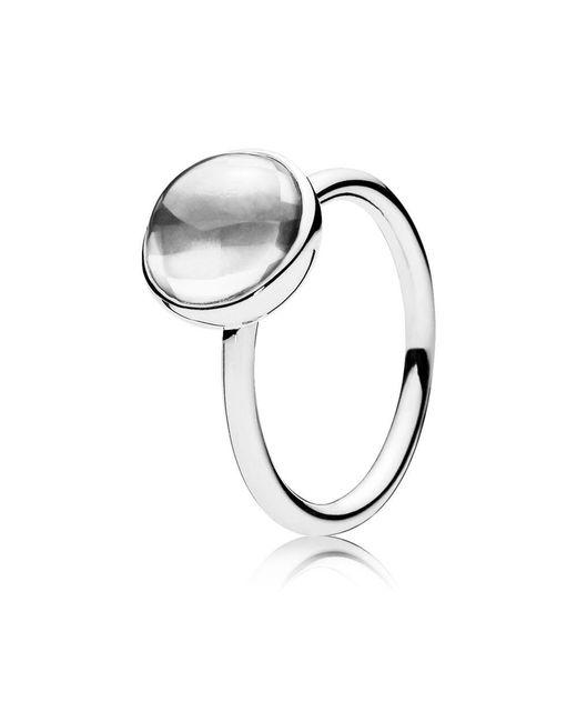 Pandora - Metallic Poetic Droplet Ring - Lyst