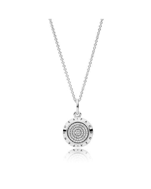 Pandora | Multicolor Signature Necklace | Lyst