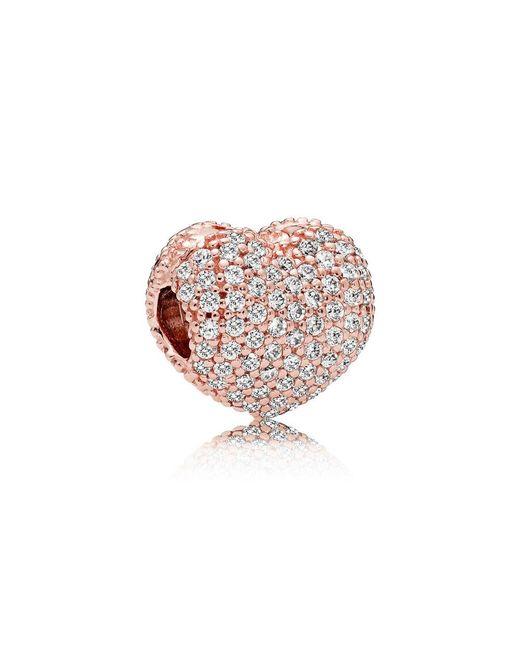 Pandora - Multicolor Pavé Open My Heart Clip - Lyst