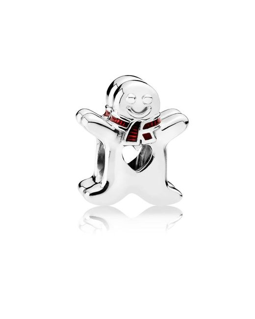 Pandora - White Sweet Gingerbread Man Charm - Lyst
