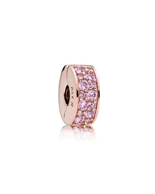 Pandora - Pink Shining Elegance Clip - Lyst