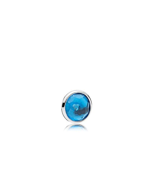 Pandora | Blue December Droplet Petite Locket Charm | Lyst