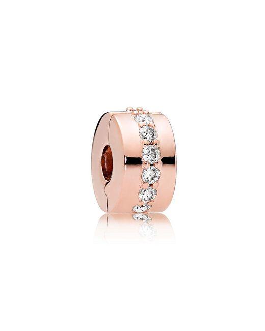 Pandora - Pink Shining Path Clip - Lyst