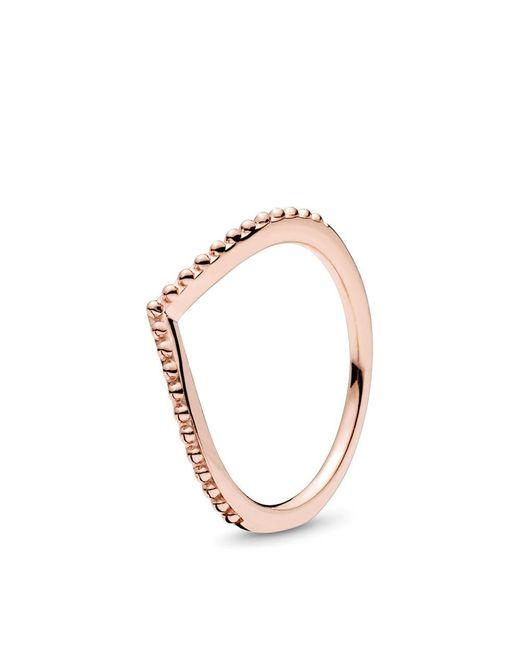 Pandora - Metallic Beaded Wish Ring - Lyst