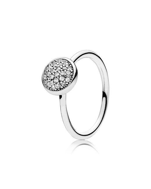 Pandora - Metallic Dazzling Droplet Ring - Lyst