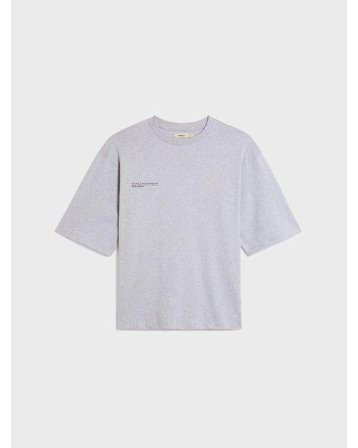 PANGAIA Gray Organic Cotton Oversized Box T-shirt With C-fibertm for men