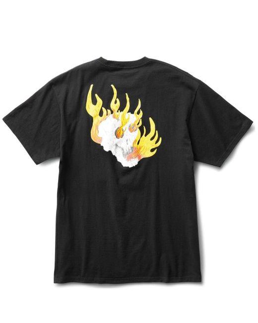 Vans Black Rowan Zorilla Skull T-shirt for men