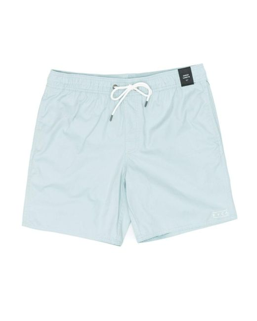 RVCA Blue Gerrard Elastic Trunk Shorts for men