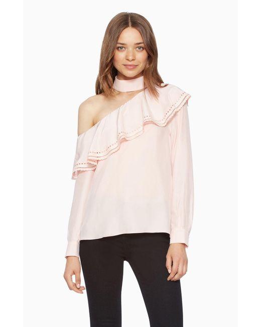 Parker | Pink Bellini Blouse | Lyst
