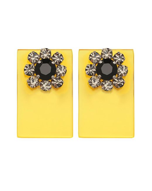 Sylvio Giardina - Perspex Square Stud Earrings Yellow - Lyst