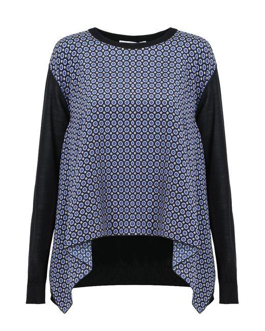 Stella McCartney | Windsor Tie Print Knit Jumper Black | Lyst